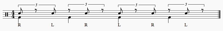 2拍3連 右手スタート