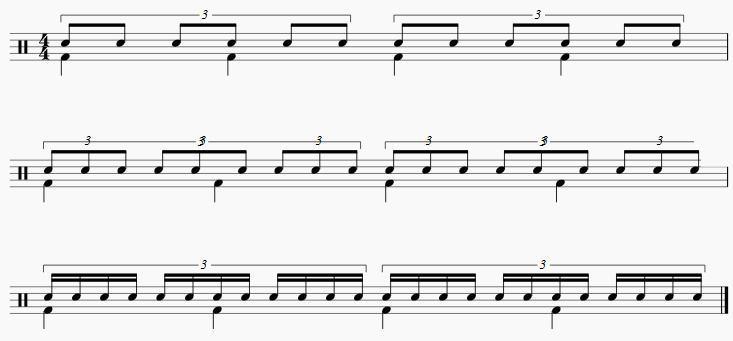 2拍3連の分割