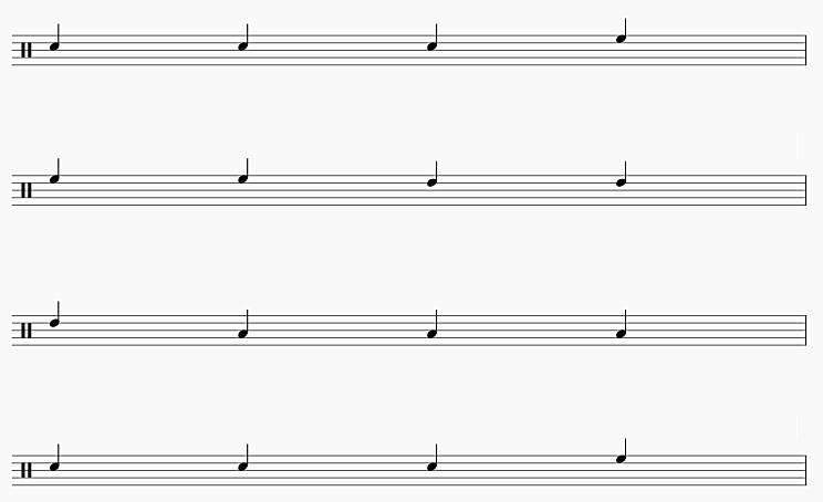 3拍フレーズ2