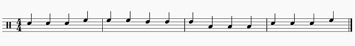 3拍フレーズ 4小節