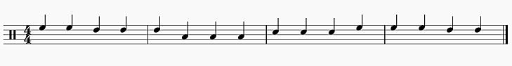 3拍フレーズ 2小節目からスタート