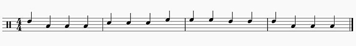 3拍フレーズ 3小節目からスタート