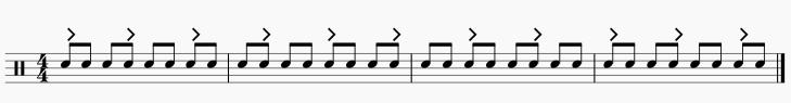 3拍フレーズ 8分音符