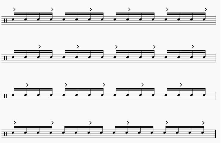 3拍フレーズ 16分音符