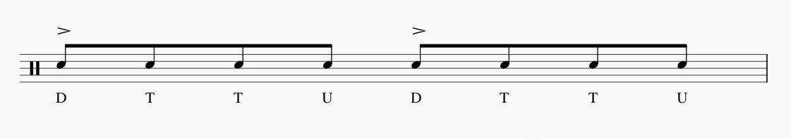 ドラム アクセント