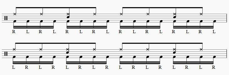 ツーバス練習16分音符