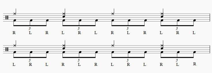 ツーバス練習3連符