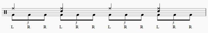 ツーバス練習3連符2