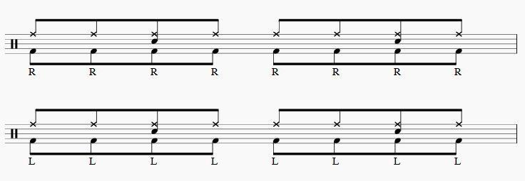 ツーバス練習8分音符