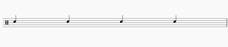 4分音符スネア