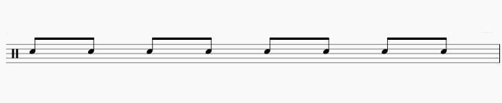 ドラム 8ビート 楽譜