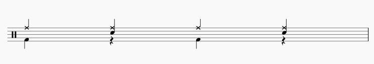 ドラムの8ビートの応用1