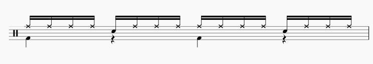 ドラムの16ビート