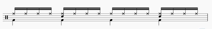 16ビート ドラムパターン1