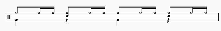 16ビート ドラムパターン