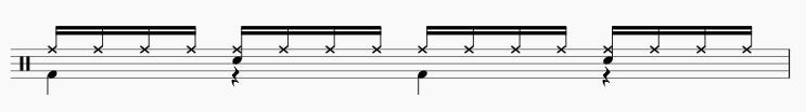 16ビート ドラムパターン2