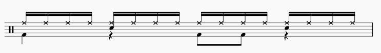 16ビート ドラムパターン3