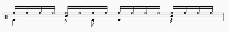16ビート ドラムパターン4
