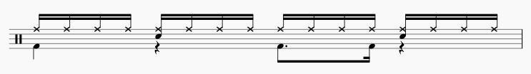 16ビート ドラムパターン6