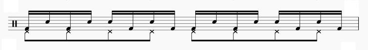 バスドラム シングルストローク