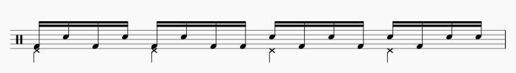 ドラム トリプルパラディドル