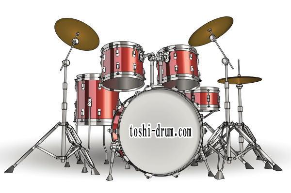 ドラム 左右対称
