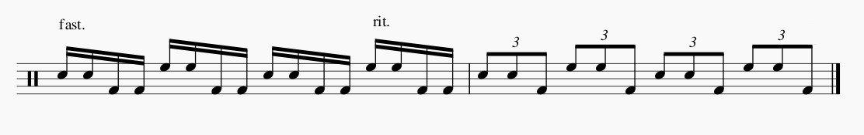 ドラム フェルマータ